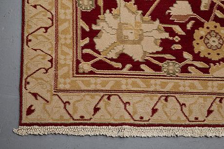 A carpet, india, probably agra, ca 482 x 332 cm.