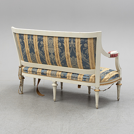 A gustavian style sofa, late 19th century.