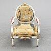 A late 18th century gustavian armchair.