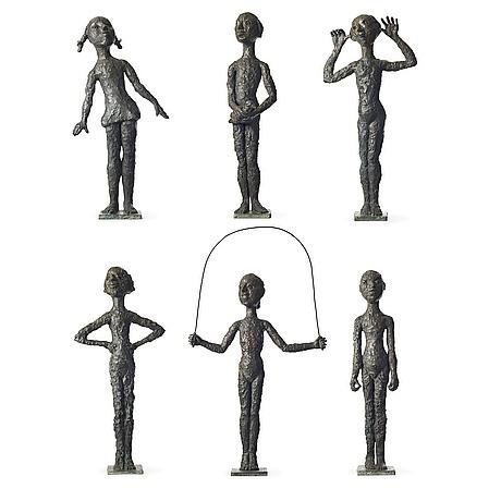 Lena cronqvist, a group of 6 sculptures.