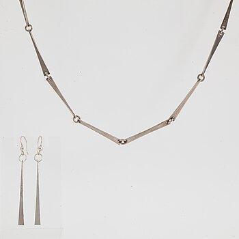 Kerstin Öhlin Lejonklou, necklace and earrings. Silver.