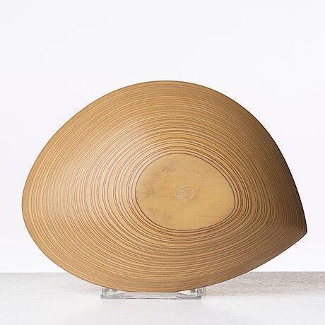 Tapio wirkkala, a laminated birch plywood dish, finland 1950's.