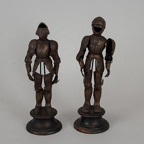 A pair of austrian steel miniature armours. 19th/20th century.