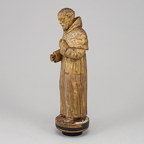 A carved wood sculpture, 18th/19th century.