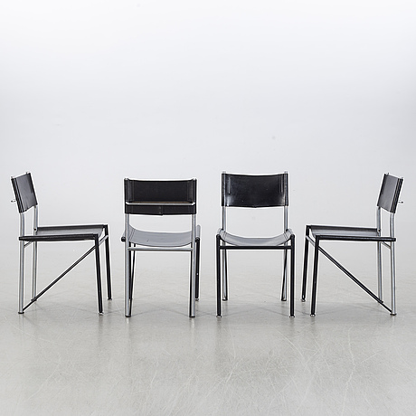 Chairs, 4 st, probably italy, second half of 20th century.