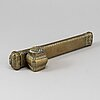 An 18th century brass oriental travelling writing case.