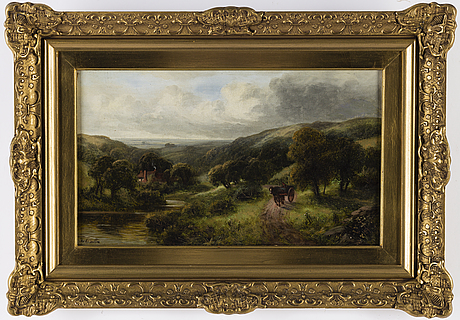Frederick carlton, oil on canvas, signed.