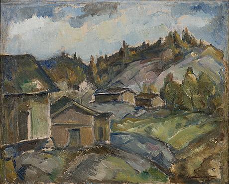 Tyko sallinen taulu Öljy, oil on canvas, signed and dated -25.