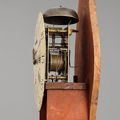 A gustavian longcase clock by petter ernst (active in stockholm 1753-1784), before 1776.