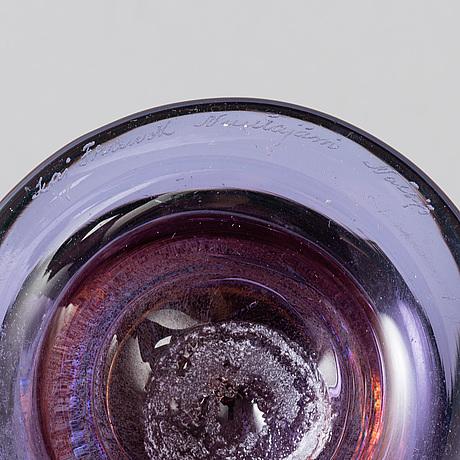 Kaj franck, a glass goblet, signed kaj franck nuutajärvi notsjö.