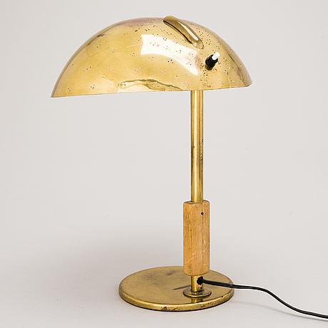 Paavo tynell, a mid-20th century '9216' table lamp for taito, finland.
