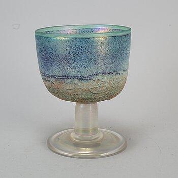 BERTIL VALLIEN, a glass goblet Kosta Boda, Sweden.