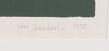 Juri saarikoski, lithograph, signed and dated 1992, numbered 10/35.