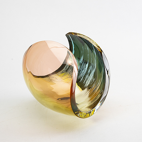 "Lena bergstrÖm, a signed and numbered glass bowl ""planets"" 78/500."