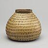 Stig lindberg, a glazed stoneware signed vase.
