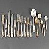 Gustaf dahlgren, 143 parts of silver cutlery, malmö 1880-1920.