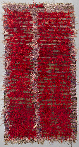 A rug, a semi-antique anatolian tülü, probably, ca 220 x 114 cm.