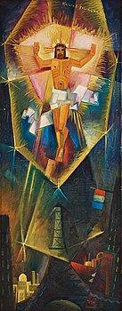 """421. Gösta Adrian-Nilsson, """"Christ revealed above the Eiffel Tower"""" (Kristus uppenbarar sig över Eiffeltornet (Kristus tillägnad))."""