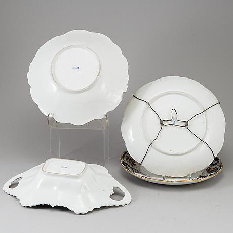 Four meissen porcelain dishes, 20th century.