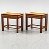 Nesting tables, a pair, (in total 6 parts), teak, second half of the 20th century.