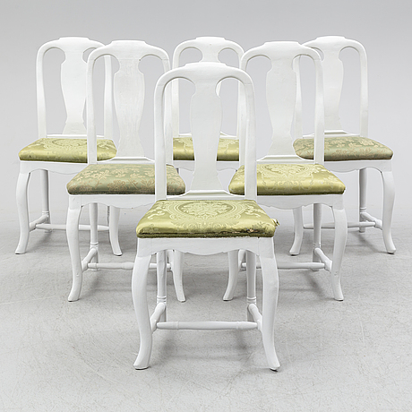 Six first half of the 19th century chairs.