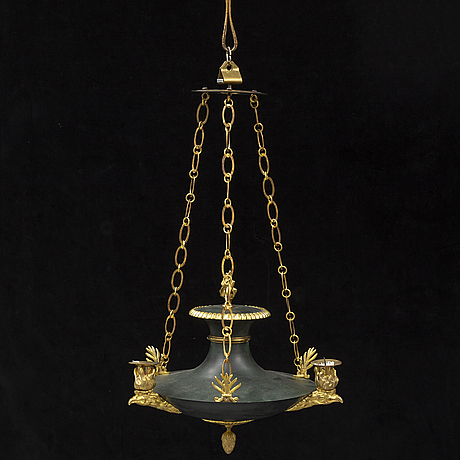 A 20th century empire style hanging lamp.