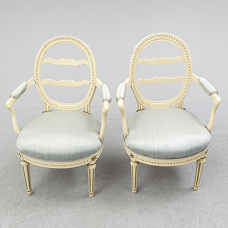 A pair of armchairs, circa 1800.