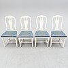 Four circa 1800 painted chairs.