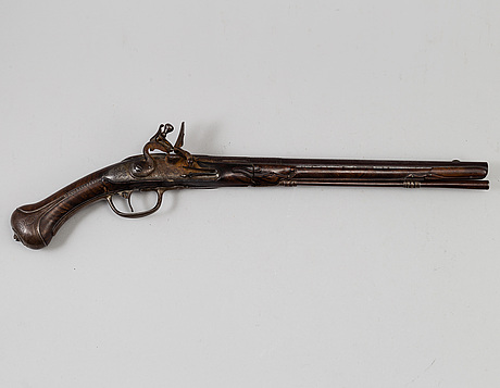 A danish flint lock pistol signed, (paul nielsen norrman, ca 1700).