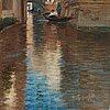 Wilhelm von gegerfelt, venetian canal scene.
