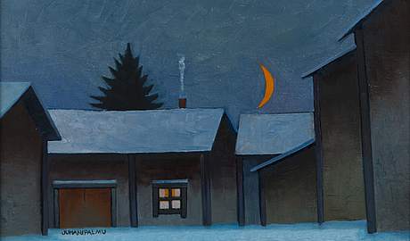 Juhani palmu, oil on canvas, signed, dated 1995 à tergo.