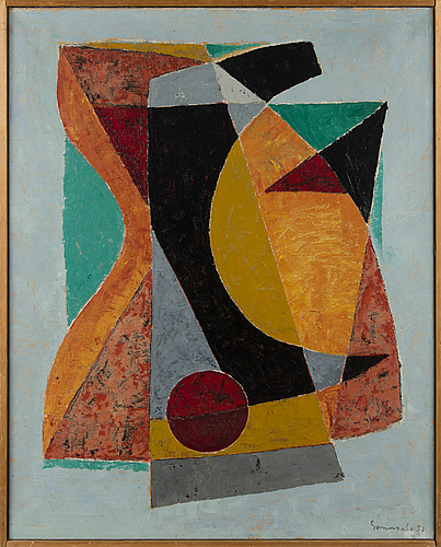 Jaakko somersalo, oil on canvas, signed and dated -51.