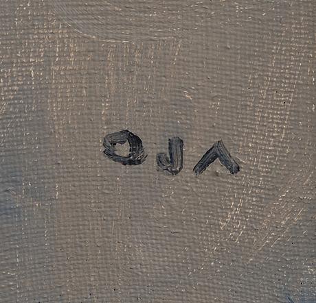 Onni oja, oil on canvas, signed.