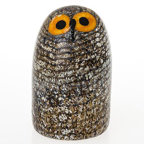 An oiva toikka glass owl. ittalia, finland.
