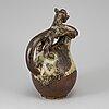 Bode willumsen, a stoneware pot, for royal copenhagen.