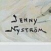 Jenny nystrÖm, watercolour, signed.