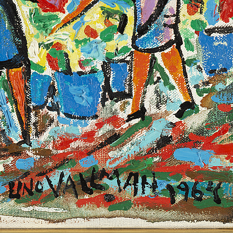 Uno vallman, oil on canvas, signed and dated 1964.