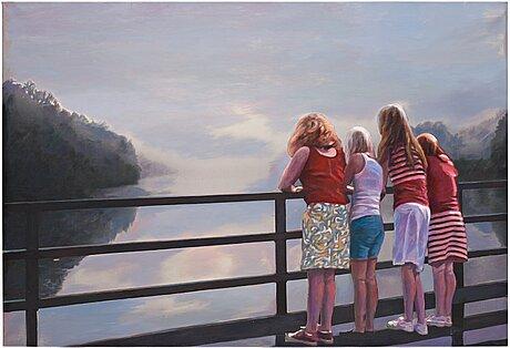 """Karin broos, """"flickorna på bron""""."""