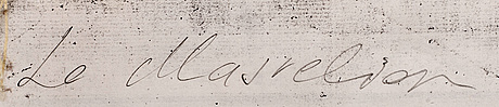 Louis masreliez, hans krets. bildyta 19x28 cm.