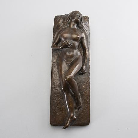 Hugo elmqvist, a signed bronze sculpture.