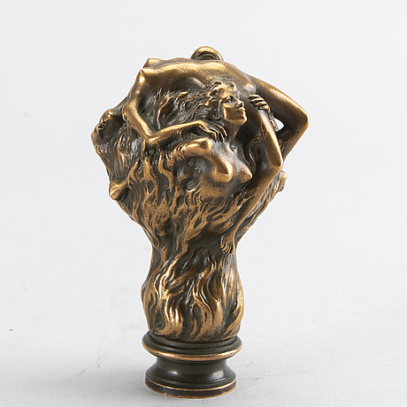 Louis chalon, a signed bronze seal.