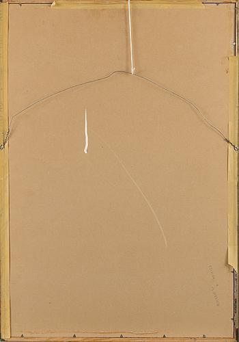 Ahti lavonen, woodcut, signed and dated -55, tpl'a.