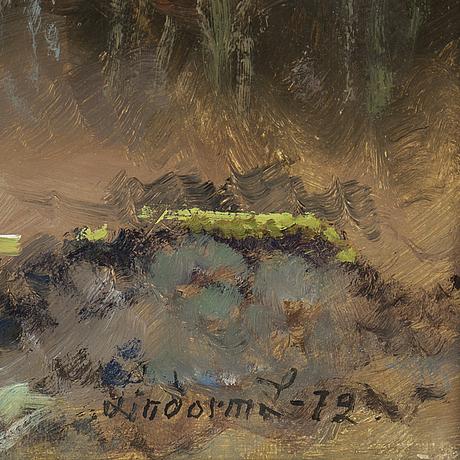 Lindorm liljefors, oil on panel, signedand dated -72.