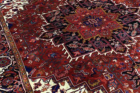 A carpet, semi-antique heriz, ca 380 x 296 cm.