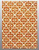 A carpet, flat weave, ca 236  x 175 cm.