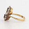 Crossiver ring with rose-cut diamonds.