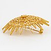 Gold brooch/pendant.