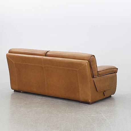 A roche bobois leather sofa late 20th century.