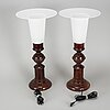 Table lamps, a pair, luxus, second half of the 20th century.