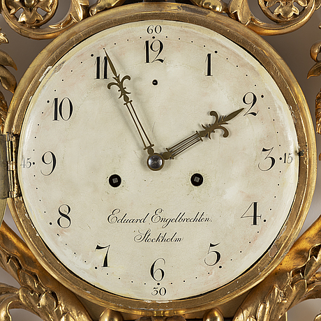 A late empire wall clock by e. engelbrechten.